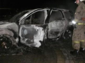 В Сурске ночью дотла выгорела иномарка