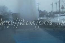 В Пензе на КПД из-под земли забил фонтан
