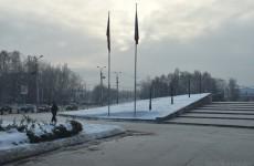 Территорию у памятника Победы полностью очистили и подготовили к 23 февраля
