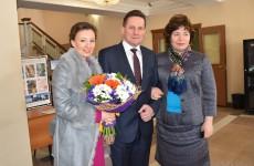 Виктор Кувайцев и Анна Кузнецова посетили репетицию артистов театра «Образ»