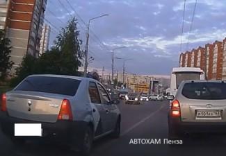 В Пензе лихач из «Яндекс Такси» вылетел на встречку