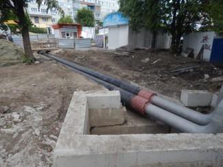 На улице Кижеватова смонтировали современные трубы в ППУ изоляции