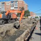 На территории Арбековского рынка начались работы по замене теплосетей