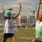 На набережной Спутника состоялась йога-сессия