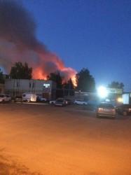 Последствия пензенского пожара, который тушили более сотни спасателей, сняли на видео