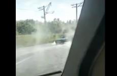 «Поддай кипятку». Пензенец заснял на видео «огненную реку» на дороге