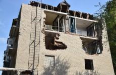 В Пензе разбирают пострадавший от взрыва дом на Крупской