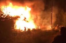 Ужасный пожар на Саранской в Пензе попал на видео