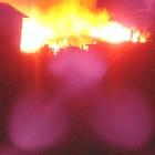 Серьезный пожар в Пензенской области попал на видео