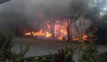 Пензенцы сообщили о серьезном пожаре на улице Толстого