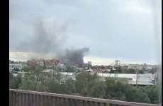 Пензенец снял на видео серьезный пожар на проспекте Победы