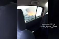 В Пензе загорелся внедорожник