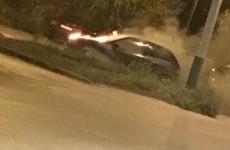 В Терновке загорелся легковой автомобиль