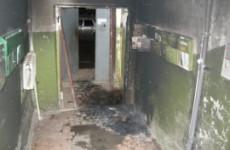 Пожар на Попова тушили семеро пожарных