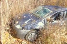 На трассе в Пензенской области водитель иномарки не справился с управлением и вылетел в кювет (ФОТО)