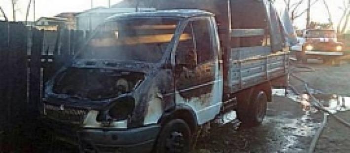 В Кузнецке восемь человек тушили грузовую «ГАЗель»