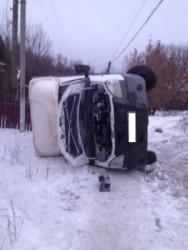 В Пензенской области водитель, не справившись с управлением, опрокинул «ГАЗель»
