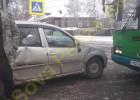 В Пензе на Южной поляне столкнулись автобус и легковушка, пострадал ребенок