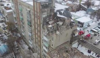 Беспилотник снял на видео шокирующие последствия взрыва газа