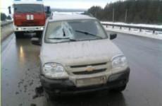 В Ахунах разбились два автомобиля