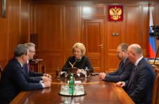 Пензенский губернатор встретился с председателем Совфеда Валентиной Матвиенко