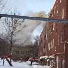 В Пензе горело бывшее общежитие в Заводском районе