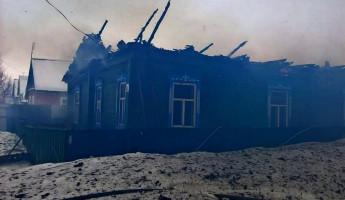 В страшном пожаре в Пензенской области погибли два человека