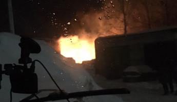В Пензе произошел серьезный пожар в поселке Монтажный