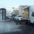 В Пензе у Центрального рынка образовалась огромная пробка из-за аварии