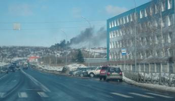 Серьезный пожар в Пензе: горит дом в Заводском районе